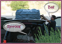 Dodge Caravan with RoofBag Car Top Carrier
