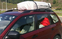 Subaru Forester with RoofBag Car Top Carrier