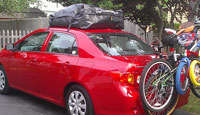 Toyota Corolla with RoofBag Car Top Carrier